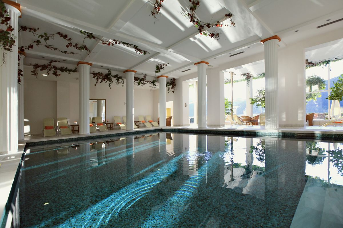 Hotel Toplice pool at Lake Bled wedding accommodation