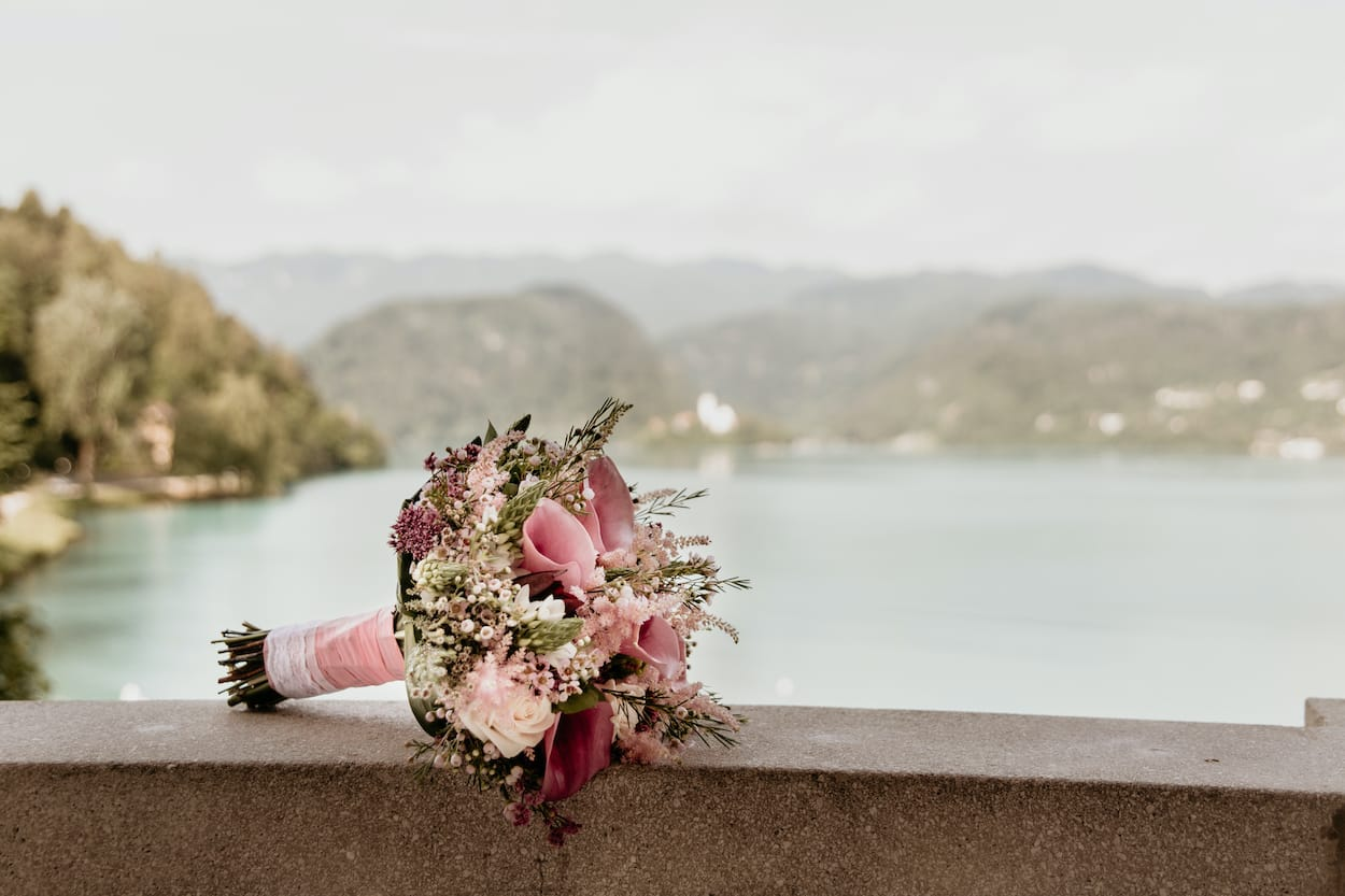 Bouquet for Lake Bled wedding portfolio
