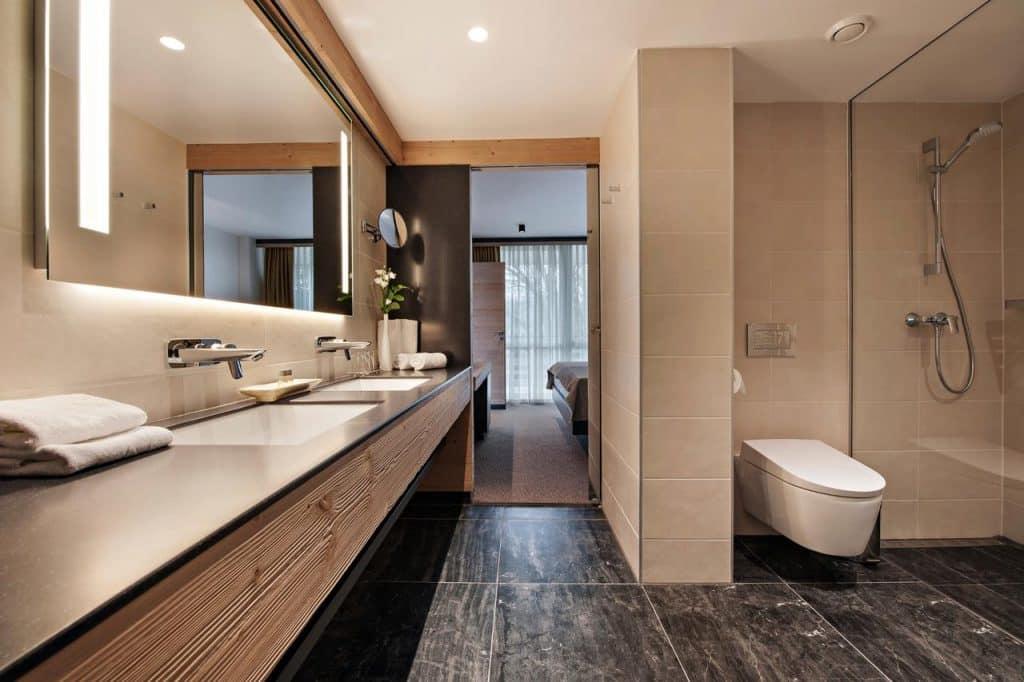 Lake Bled wedding accommodation Rikli Balance bathroom