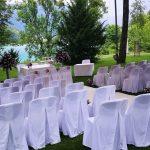 Vila Bled civil wedding ceremony arrangement
