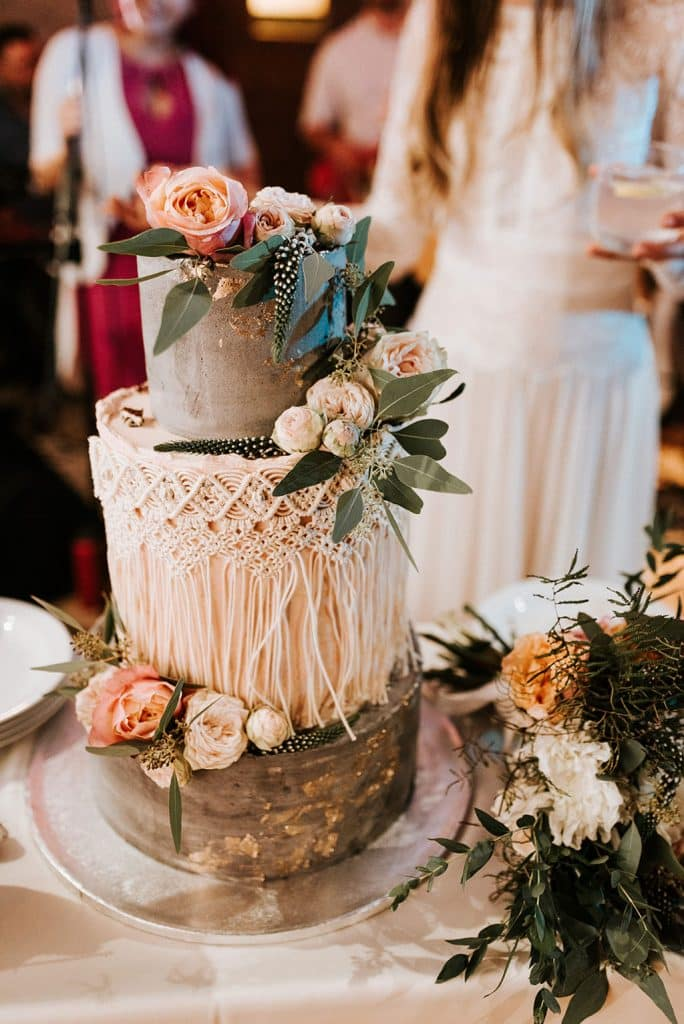 Cake with flowers prepared by Lake Bled wedding suppliers