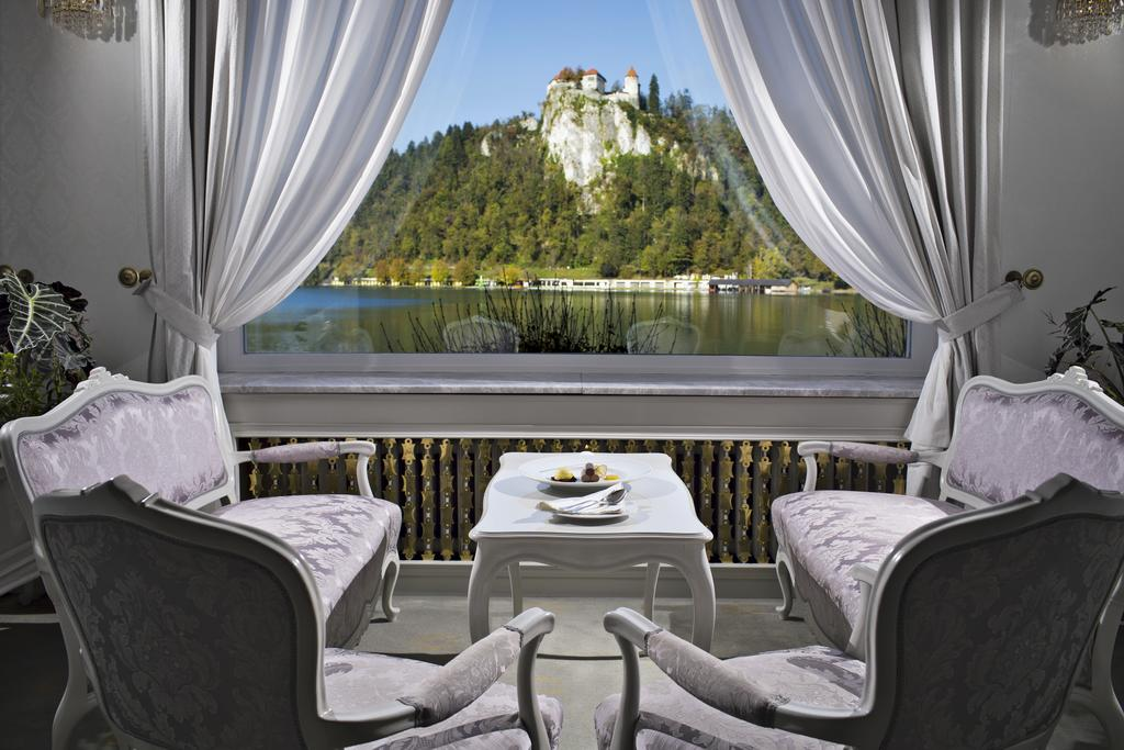 View on Bled Castle from Hotel Grand Toplice
