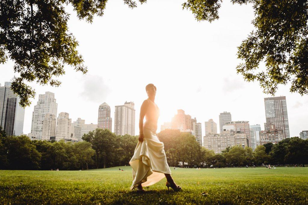Bride in Central Park in New York