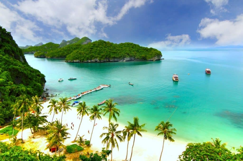 Beach and island Koh Samui Thailand
