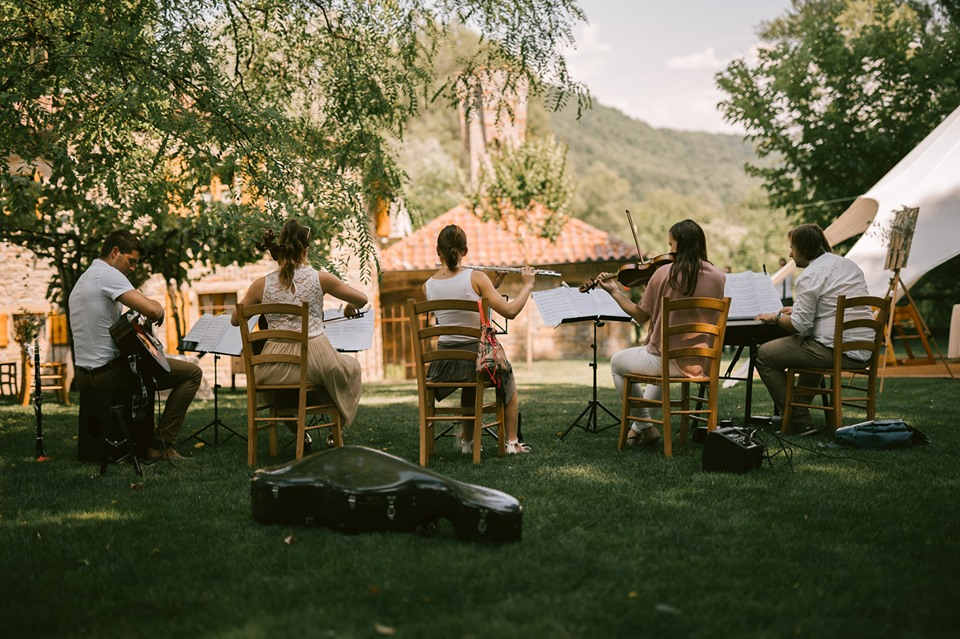 Band playing at Lake Bled Wedding