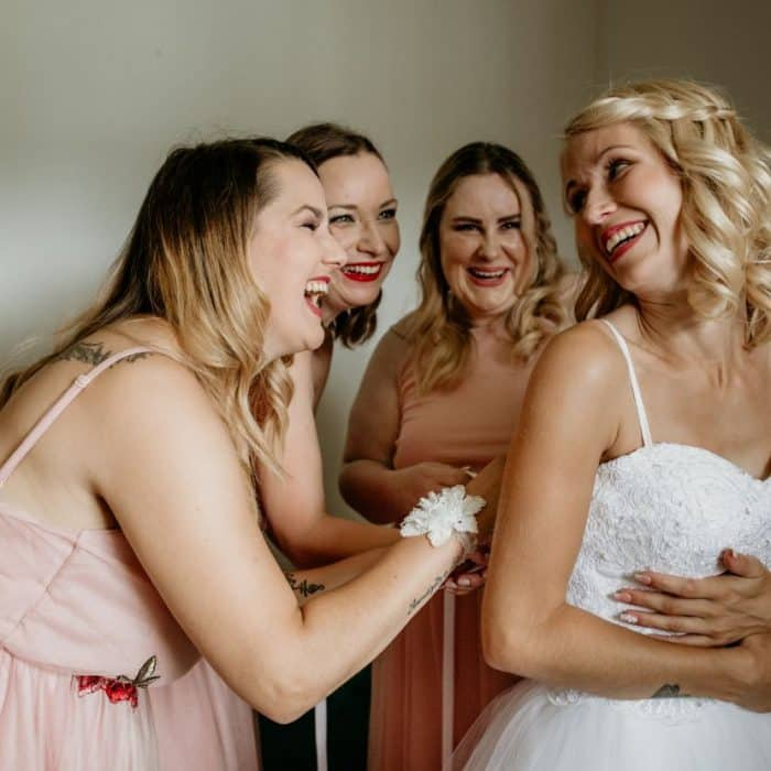 Bride-and-bridesmates-Bled-Town-Hall-wedding