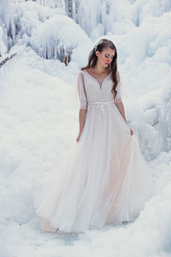 Bride in ice land.