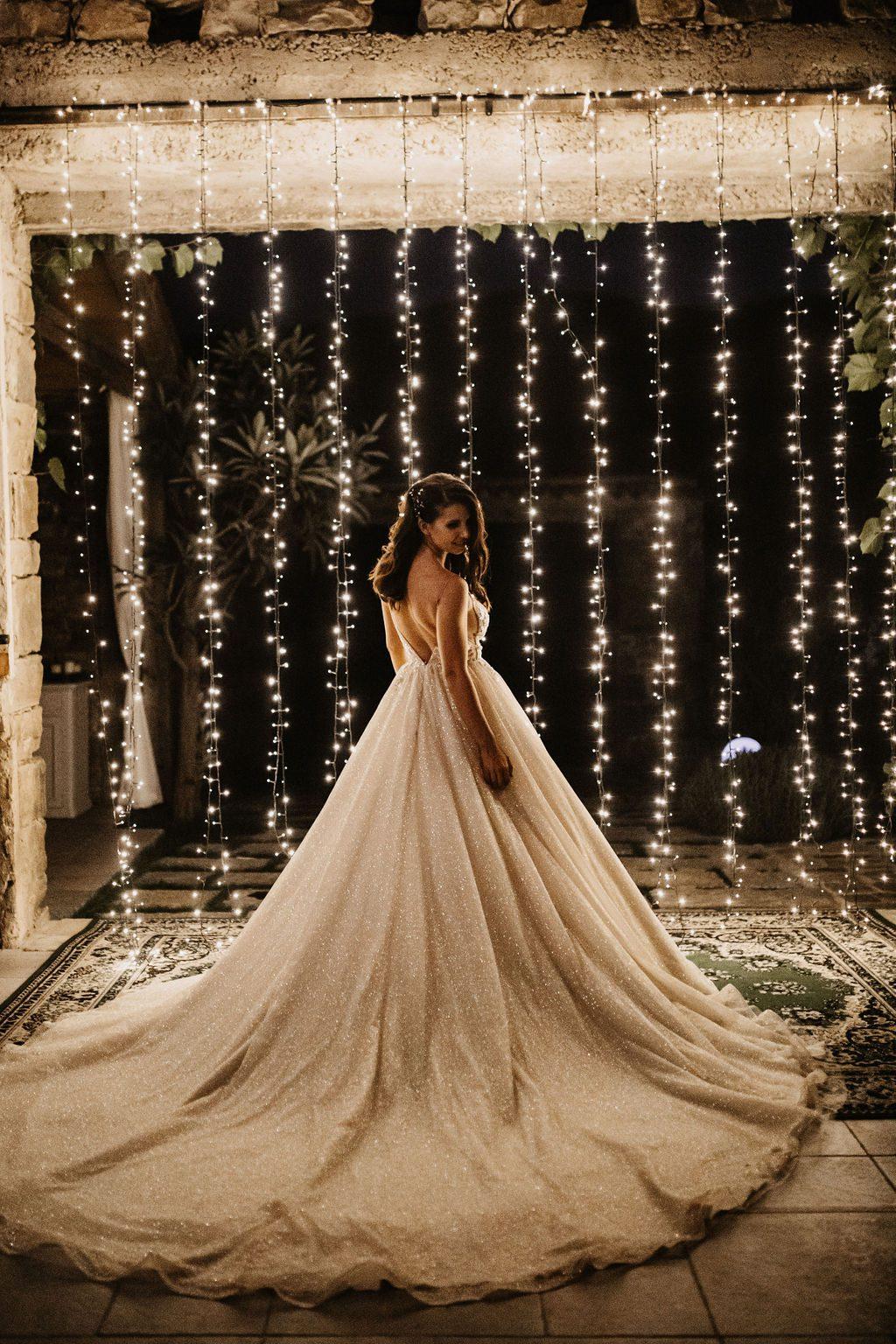 Bride in th light.